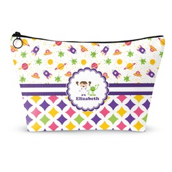 Girl's Space & Geometric Print Makeup Bags (Personalized)