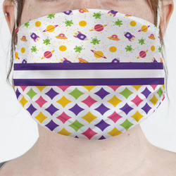 Girl's Space & Geometric Print Face Mask Cover (Personalized)
