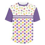 Girl's Space & Geometric Print Men's Crew T-Shirt (Personalized)