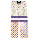 Girl's Space & Geometric Print Mens Pajama Pants (Personalized)