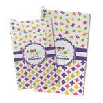 Girl's Space & Geometric Print Microfiber Golf Towel (Personalized)
