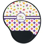 Girl's Space & Geometric Print Mouse Pad with Wrist Support