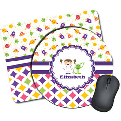 Girl's Space & Geometric Print Mouse Pads (Personalized)