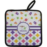 Girl's Space & Geometric Print Pot Holder (Personalized)
