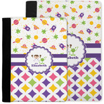 Girl's Space & Geometric Print Notebook Padfolio w/ Name or Text