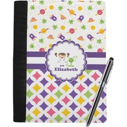 Girl's Space & Geometric Print Notebook Padfolio (Personalized)