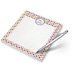 Girl's Space & Geometric Print Notepad (Personalized)