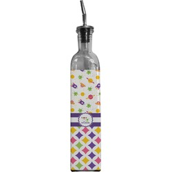 Girl's Space & Geometric Print Oil Dispenser Bottle (Personalized)
