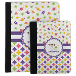 Girl's Space & Geometric Print Padfolio Clipboard (Personalized)