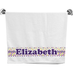 Girl's Space & Geometric Print Bath Towel (Personalized)