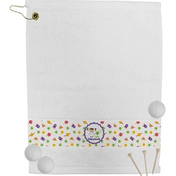 Girl's Space & Geometric Print Golf Towel (Personalized)