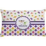 Girl's Space & Geometric Print Pillow Case (Personalized)