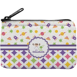 Girl's Space & Geometric Print Rectangular Coin Purse (Personalized)