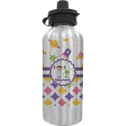 Girl's Space & Geometric Print Water Bottle (Personalized)