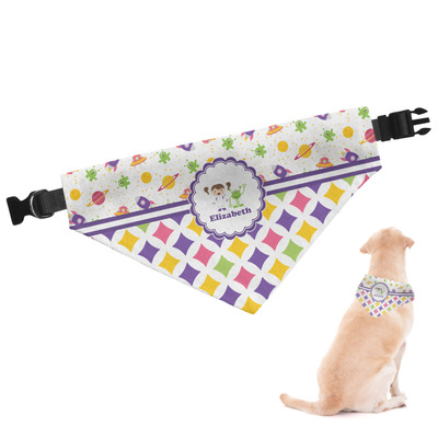 Girl's Space & Geometric Print Dog Bandana (Personalized)