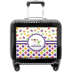 Girl's Space & Geometric Print Pilot / Flight Suitcase (Personalized)