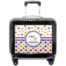 Girl's Space & Geometric Print Pilot / Flight Suitcase (Personalized)
