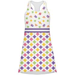 Girl's Space & Geometric Print Racerback Dress (Personalized)
