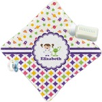 Girl's Space & Geometric Print Security Blanket (Personalized)
