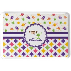 Girl's Space & Geometric Print Serving Tray (Personalized)