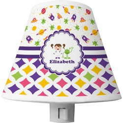 Girl's Space & Geometric Print Shade Night Light (Personalized)