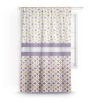 Girl's Space & Geometric Print Sheer Curtains (Personalized)