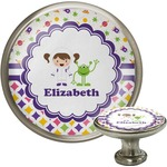 Girl's Space & Geometric Print Cabinet Knobs (Personalized)
