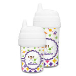 Girl's Space & Geometric Print Sippy Cup (Personalized)