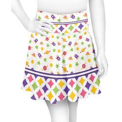 Girl's Space & Geometric Print Skater Skirt (Personalized)