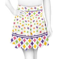 Girl's Space & Geometric Print Skater Skirt (Personalized)