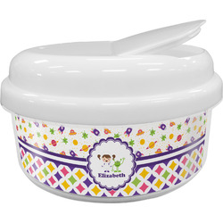 Girl's Space & Geometric Print Snack Container (Personalized)