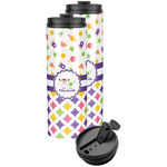 Girl's Space & Geometric Print Stainless Steel Skinny Tumbler (Personalized)
