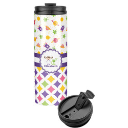 Girl's Space & Geometric Print Stainless Steel Tumbler (Personalized)