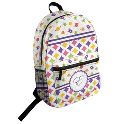 Girl's Space & Geometric Print Student Backpack (Personalized)