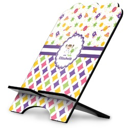 Girl's Space & Geometric Print Stylized Tablet Stand (Personalized)