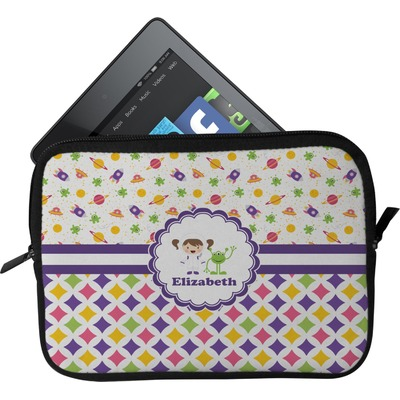 Girl's Space & Geometric Print Tablet Case / Sleeve (Personalized)