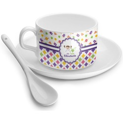 Girl's Space & Geometric Print Tea Cups (Personalized)