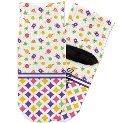 Girl's Space & Geometric Print Toddler Ankle Socks (Personalized)