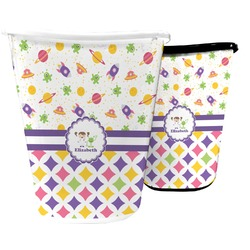 Girl's Space & Geometric Print Waste Basket (Personalized)