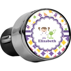Girl's Space & Geometric Print USB Car Charger (Personalized)