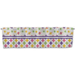 Girl's Space & Geometric Print Valance (Personalized)