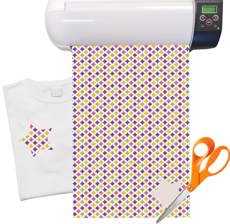 Girl S Space Geometric Print Heat Transfer Vinyl Sheet 12 X18