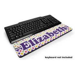 Girl's Space & Geometric Print Keyboard Wrist Rest (Personalized)