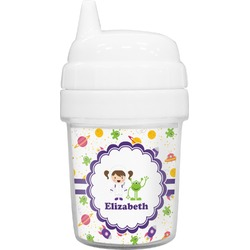 Girls Space Themed Baby Sippy Cup (Personalized)