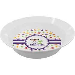 Girls Space Themed Melamine Bowl (Personalized)