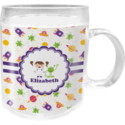Girls Space Themed Acrylic Kids Mug (Personalized)
