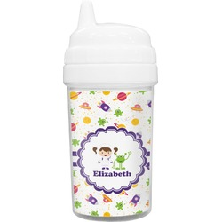 Girls Space Themed Toddler Sippy Cup (Personalized)