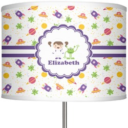 "Girls Space Themed 13"" Drum Lamp Shade (Personalized)"