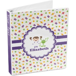 Girls Space Themed 3-Ring Binder (Personalized)