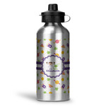 Girls Space Themed Water Bottle - Aluminum - 20 oz (Personalized)